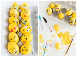Vajíčka  jako smajlíci